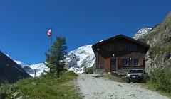 cabane du Petit Mountet (bulbocode909) Tags: nature suisse vert bleu arbres neige valais montagnes zinal drapeaux cabanes grandcornier petitmountet