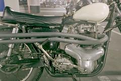 (shimobros) Tags: show hot film bike japan vintage chopper nikon fuji parking w natura 1600 mc triumph moto motorcycle rod yokohama custom digger kawasaki f90x bobber mooneyes adobelightroom 2013  hotrodcustomshow