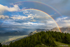 Double Rainbow over the Dolomites (Austria) (Thomas Bartelds Photography) Tags: rainbow dolomites austria italy tirol ost hills green colors colours amazing earth up sky rain sun light coloured