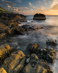 Lendalfoot Sunset (Images by William Dore) Tags: sunset goldenhour magichour rocks water sea seascape seaside ocean ayrshire southayrshire scotland uk nikon d810 nikond810 landscape outdoors outside orange blue