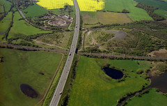 John Ball aerial photo library (Warwickshire Wildlife Trust) (Warwickshire Wildlife Trust) Tags: arablefarmland b781as coventrycanal geotagged hedgerowgappy m42 pooleyfieldsgl sk244048 sssi westcoastmainlinewcml woodbroadleaved znotrecorded warwickshire england