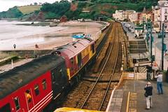 20040703 007 Dawlish. 67027 'Rising Star' 1V15 07.08 York-Paignton (15038) Tags: br diesel trains locomotive railways britishrail dawlish risingstar class67 67027 alstomgeneralmotors