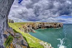 Acrylic afternoons (pauldunn52) Tags: wales head cliffs limestone pembrokeshire stackpole