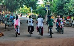 Simple & Peaceful (sajan-164) Tags: life ladies dog india west bike bicycle slow tricycle peaceful single motor bengal santiniketan bolpur sajan164