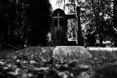 cemetery (ppel) Tags: white black monochrome cemetery graveyard sunshine yard outside bone schwarz weis