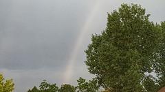 August 2, 2016 - A faint rainbow in Thornton. (Thornton Weather)