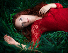 What dreams may come (Anna Gorin) Tags: portrait selfportrait girl woman redhead flowercrown meadow grass outdoors naturallight youngadult fantasy fairytale dreamlike ethereal conceptual lace canon 5diii 50mm f14