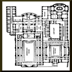 Historic public bath house plan (Germany) (ptlb0142) Tags: shower bath bathhouse swimmingpool bathtub tub history swimming pool houses