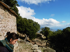 Chapel between two crests (angeloska) Tags: ikaria hikingtrails opsikarias aegean greece signage    ryakas geli   prettygirl meditation religion monasticism february