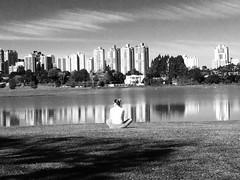 (gzammarchi) Tags: brasile curitiba persona lago citt riflesso explore bn