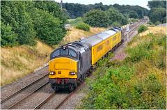 37611/37608. Cantley. (Alan Burkwood) Tags: cantley doncaster europhoenix 37611 37608 test train peterboroughderbyviadoncaster diesel locomotive drs
