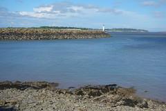 Jackson's Bay (Dave Roberts3) Tags: wales glamorgan vale barry sea blue pebbles lighthouse breakwater seaweed sky clouds blueribbonwinner citrit