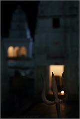 shiva .. (nevil zaveri (thank you for 10 million+ views :)) Tags: zaveri trishul weapon temple shrine architecture exterior night diya amarkantak pradesh mp india madhyapradesh madhya religion photography photographer images photos blog stockimages photograph photographs nevil nevilzaveri stock photo shiv shiva