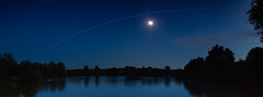 ISS Panoramic Pass (Tim Burgess : Perfexeon) Tags: internationalspacestation iss night sky panoramic lake international space station stars water longexposure trail moon astro astrophotography