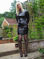 Outdoors Dressed in my Shiny Fetish PVC Dress, Shiny stockings & 6inch High heels with Neighbours Watching (PVCPATSY TV) Tags: pvcfetishslut pvc latex fetish tight dress shiny outdoors transvestite shinystockings neighbourswatching 6inchhighheels pvcfetishdress