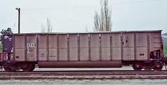 XTRX 9143 coal gondola-Denver, Colorado. (Wheatking2011) Tags: xtrx coal hopper first union rail company leasing 35mm slide rio grandes north yard denver colorado