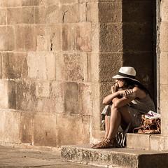 Waiting For... (migajiro) Tags: migajiro sony nex7 sel18200 santiago escalones sitting sentada esperando ltytr1
