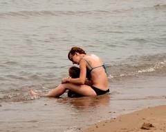 Mother and child ... (zsgchinyc) Tags: mothers child beach edgewaterbeach love caring lakeshoredrive lakemichigan lakefronttrail