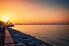 Sunset over Salmiya seaside, Kuwait (CamelKW) Tags: kuwait2212016 sunset salmiya seaside kuwait