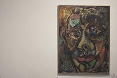 Violencia sin genero. (elojeador) Tags: cuadro pintura leo pared exposicin retrato gins ginscervantes cama museodealmera profesor dedudas elojeador