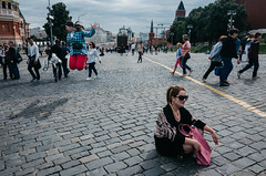 Red square (Spyros Papaspyropoulos) Tags: colour colourphotography color streetphotography streetphotographer street shadows light moscow russia streethunters candid candidphotography ricohgr 18mm photography lightroom dayshot morning day pink clouds sky redsquare