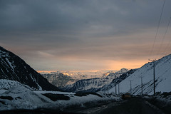 from the beginning (Joo Vitor Gama) Tags: ifttt 500px snow ice winter mountain mountains sunset white travel clouds andes chile santiago el yeso canon south america