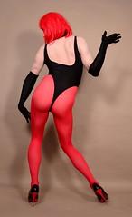 19f1L (klarissakrass) Tags: leotard tights penthouse heels crossdress travestite