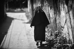 The Lonely Stranger (N A Y E E M) Tags: oldlady neighbour burqa friday afternoon street rabiarahmanlane chittagong bangladesh windshield light