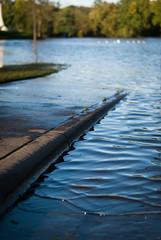 Where the Sidewalk Ends (Ian Stoll) Tags: water ripples waves sidewalk ourdoors urban flood blur bokeh