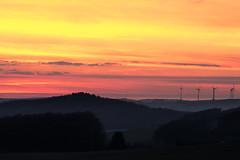 beautiful sunset (krwlms) Tags: sunset beautiful germany deutschland colorful sonnenuntergang sundown himmel windmills owl nrw farben windrder weserbergland lippe lipperland