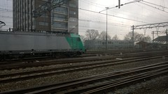 A view to a train. (PhotoTJH) Tags: railroad station amsterdam train central tracks locomotive der railways trein centraal spoorwegen nationale nmbs locomotief belgische spoorlijn maatschappij phototjh phototjhnl