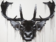 Odocoileus virginianus, 2014, 248 x 186cm, spray can & acrylic on MDF.