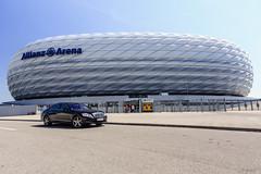 Allianz Arena (Aloxxxy) Tags: germany munich bavaria canon1635mmf28liiusm stadiummunich canon5dmk3 canon5dmarkiii allianzdiarenastadium mercedesbenzsclassw221