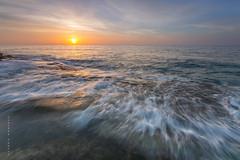 Amanece en el Mediterrneo (Lourdes Santos Bajo) Tags: sunrise cabo alicante amanecer mediterrneo torrevieja cabocervera lourdessb lourdessantos lourdessantosbajo