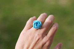 blue rose ♥ (Slya Cabret) Tags: cute paper origami handmade jewelry ring papel papiroflexia anillo artesania bisuteria paperlover