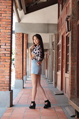 Laura028 (greenjacket888) Tags: portrait laura cute beautiful asian md leg neo lovely  leggy            asianbeauty   85l  85f12  beautyleg  5dmk 5d3