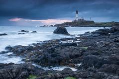 Turnberry Bay (Steven Fergus) Tags: sunset sea lighthouse seascape landscape photography bay scotland nikon rocks waves windy shore bluehour rough tamron ayrshire turnberry d90 1750mm