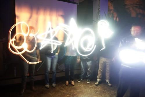 Taller Pintando con Luz de Fundación CIENTEC, 14 de mayo 2015, Tin Jo.