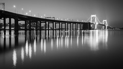 Throgs Neck Bridge (Jemlnlx) Tags: park new york city nyc bridge sunset sun 3 ny water set canon neck bay is little zoom mark bronx iii tripod wide queens filter l bayside 5d usm filters ef f4 gitzo graduated density neutral tiffen throws 1635mm gnd photoclam 1541t