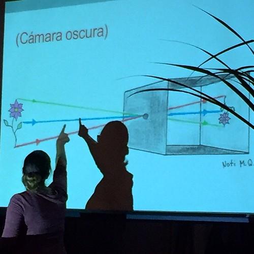Pintando con Luz- Natalia Murillo explica la cámara óscura