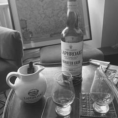 Afternoon Dram - Laphroaig Quarter Cask (reds on tour) Tags: glass wales glasses map whiskey islay jug whisky laphroaig malt maltwhisky hawarden islaywhisky