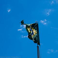 Love the flag (Gabriel Cardoso Foto) Tags: amigos bebedouro fotografia viagens panasonic lumix gf3 1442 blue azul cu sky flag bandeira brasil brazil cores colors ptria