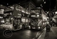 London Nov 2015 (7) 017 - Bus jam on Oxford Street (Mark Schofield @ JB Schofield) Tags: park christmas street city winter england white black london monochrome canon fairground carousel hyde oxford rides nightlife wonderland stalls 5dmk3