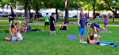 Well Balanced (FrogLuv) Tags: annarbormichigan summer aa a2 streetphotography candid 2016annarborartfairs yoga universityofmichigan um uofm michigan