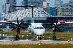 Luxair - De Havilland Canada DHC-8-402Q Dash 8 - LX-LGN  London City Airport (paulstevenchalmers) Tags: london londoncity airport lcy