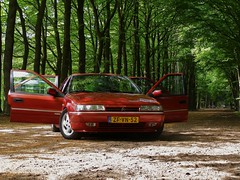 Citroën Xantia 2.0i 16V Activa (Skylark92) Tags: citroen xantia 20 activa red forest utrecht holland netherlands nederland vuursche lage 1996 zfvn52 16v 20i