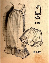 2016-07-29 1950s underwear (april-mo) Tags: 1950s 50s lesannes50 the50s fashion fashionstory mode retro monochrome lingerie petticoat knickers culotte sketch
