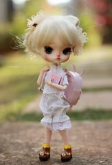First day at School (n a m i [  ]) Tags: pink school cute bunny green doll dal teddybear kawaii groove pullip obitsu junplanning obitsu21cm dalfullcustom