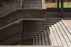 SFU (neilbruder) Tags: burnaby sfu stairs concrete brutalist arthurerickson trackandfield