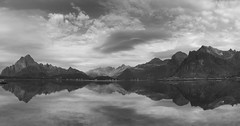 I left and now I am unsure if it was real (lunaryuna) Tags: sea sky bw panorama monochrome norway clouds reflections coast blackwhite jetty lunaryuna lofoten cloudscape seeingdouble islets lofotenislands norwegiansea lightmood mountainrages lofotenwall lofotenarchipelago sandvikabay northernmirrorworlds